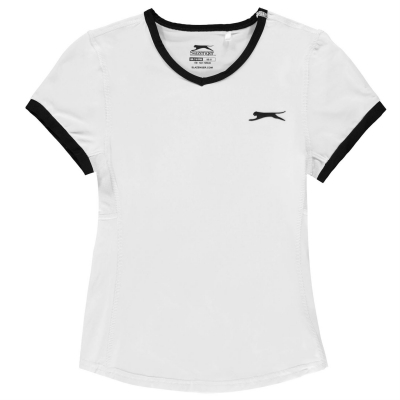 Tricou Slazenger Court pentru fetite alb
