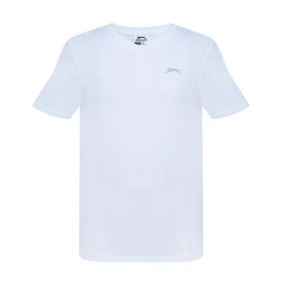 Tricou Slazenger cu decolteu in V pentru baietei alb