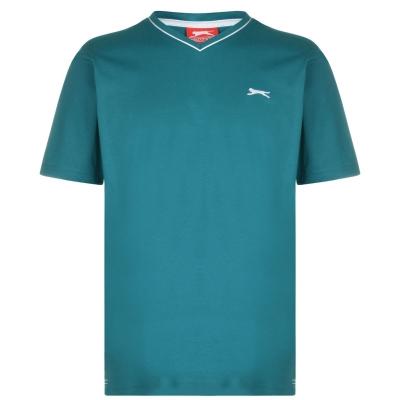 Tricou Slazenger cu decolteu in V pentru Barbati bleu albastru