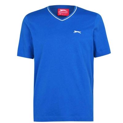 Tricou Slazenger cu decolteu in V pentru Barbati albastru roial
