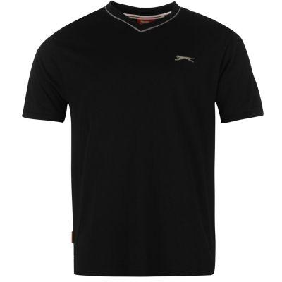 Tricou Slazenger cu decolteu in V pentru Barbati negru
