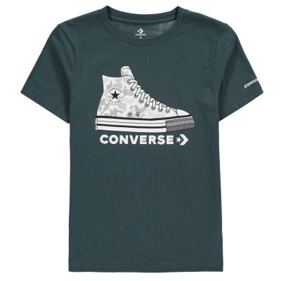 Tricou Sneaker Converse pentru baietei faded verde