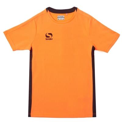 Tricou Sondico Fundamental Polo pentru baietei portocaliu fosforescent negru