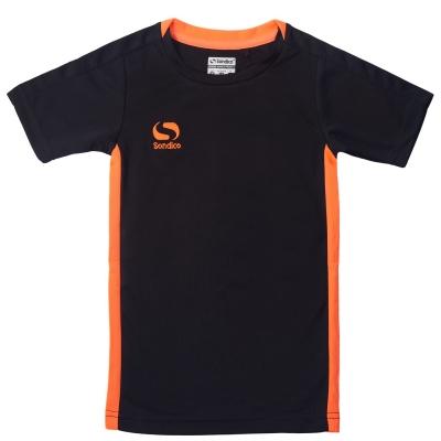 Tricou Sondico pentru Bebelusi negru portocaliu fosforescent