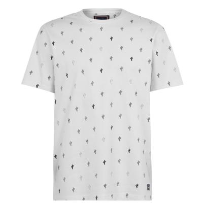 Tricou SoulCal AOP pentru Barbati alb multicolor