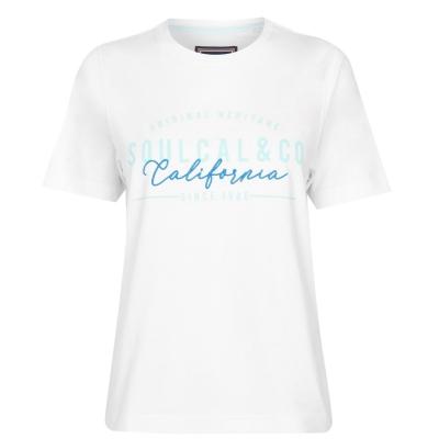 Tricou cu imprimeu SoulCal pentru Femei alb