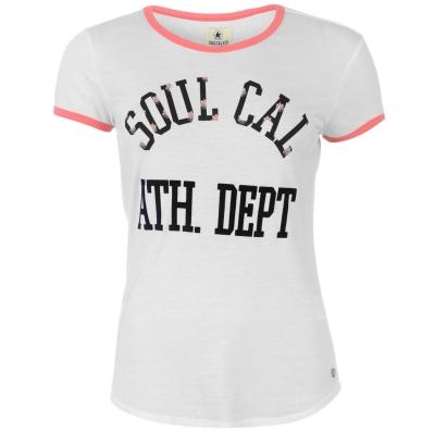 Tricou SoulCal contrast Binding pentru femei alb