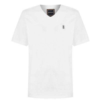 Tricou SoulCal Signature cu decolteu in V pentru Barbati alb