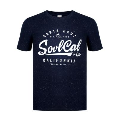 Tricou SoulCal Textured Flecked bleumarin