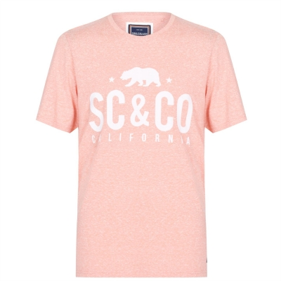 Tricou SoulCal Textured Flecked bright coral