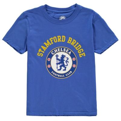 Tricou Source Lab Chlesea FC Crest pentru baietei albastru