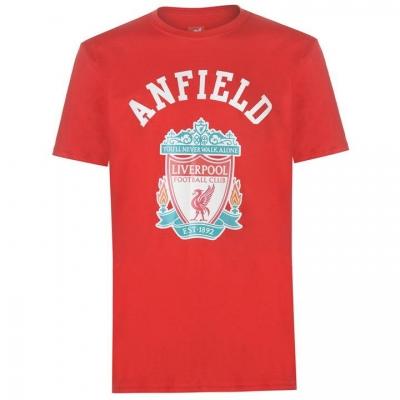 Tricou Source Lab Liverpool Crest pentru Barbati rosu