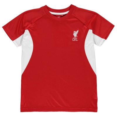 Tricou Source Lab Liverpool FC pentru baietei rosu