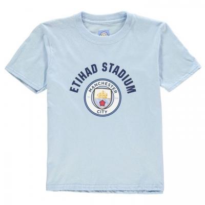 Tricou Source Lab Manchester City FC Crest pentru baietei