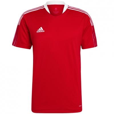 Tricou sport antrenament Adidas Tiro 21 rosu GM7588 pentru Barbati