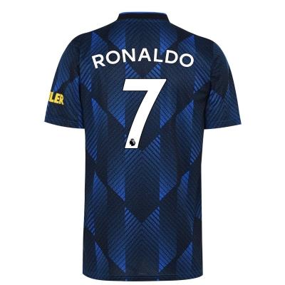 Tricou sport Third adidas Manchester United Cristiano Ronaldo 2021 2022 albastru