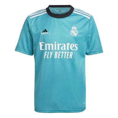 Tricou sport Third adidas Real Madrid 2021 2022 pentru copii albastru