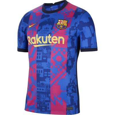 Tricou sport Third Nike Barcelona 2021 2022 albastru galben