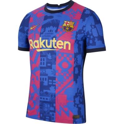 Tricou sport Third Nike Barcelona Match 2021 2022 albastru galben