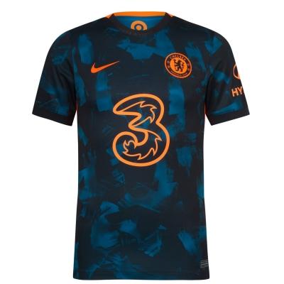 Tricou sport Third Nike Chelsea 2021 2022 albastru rosu