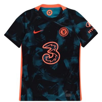 Tricou sport Third Nike Chelsea 2021 2022 pentru copii albastru rosu