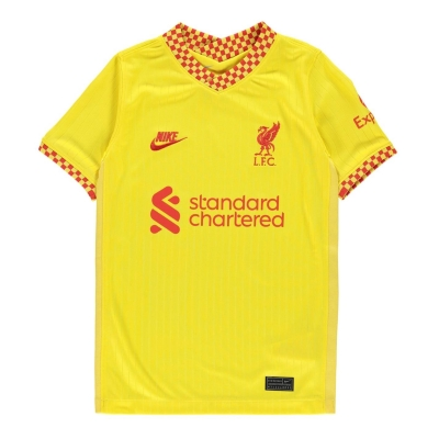 Tricou sport Third Nike Liverpool 2021 2022 pentru copii galben