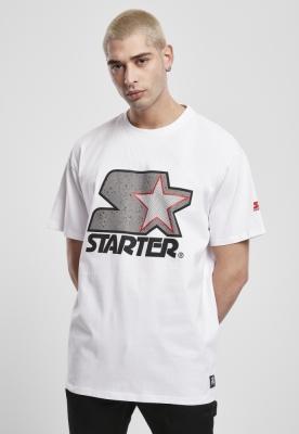Tricou Starter Multicolored Logo alb-gri