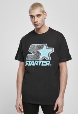 Tricou Starter Multicolored Logo negru-turcoaz