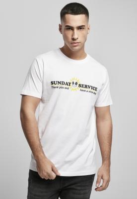 Tricou Sunday Service alb Mister Tee