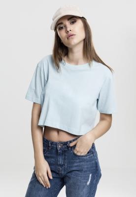 Tricou supradimensionat scurt pentru Femei babyblue Urban Classics albastru deschis