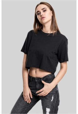Tricou supradimensionat scurt pentru Femei negru Urban Classics