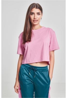 Tricou supradimensionat scurt pentru Femei roz Urban Classics