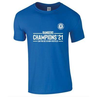 Tricou Team Rangers Champions pentru Barbati albastru