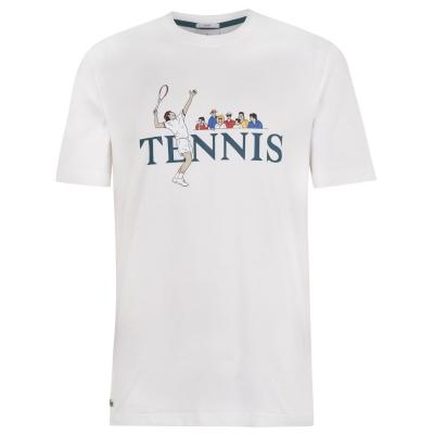 Tricou tenis Lacoste LVE alb 2cq