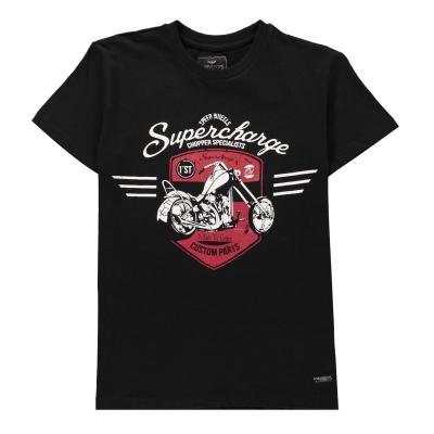 Tricou Threadbare Supercharge pentru baietei negru