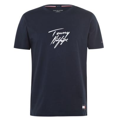 Tricou Tommy Bodywear cu Maneca Scurta Signature bleumarin blazer