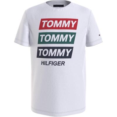 Tricou Tommy Hilfiger Tommy Hilfiger Tripple alb ybr