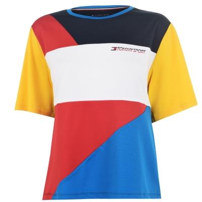 Tricou Tommy Sport Colour Block true rosu