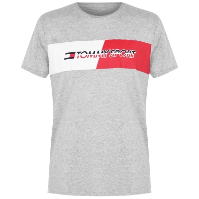 Tricou Tommy Sport Graphics gri deschis