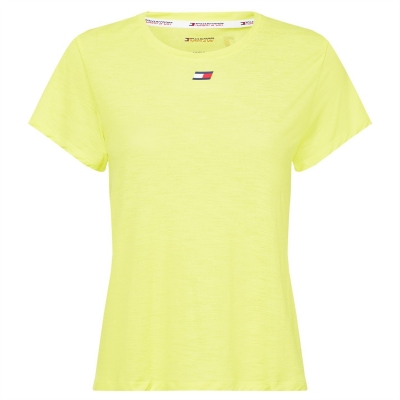 Tricou Tommy Sport Perform galben verde lime
