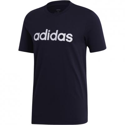 Tricou Adidas M imprimeu Graphic Linear 3 , bleumarin EI4600 pentru barbati