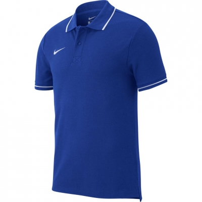 Tricou polobarbati Nike Team Club 19 SS albastru AJ1502 463