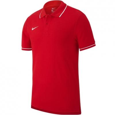 Tricou polobarbati Nike Team Club 19 SS rosu AJ1502 657