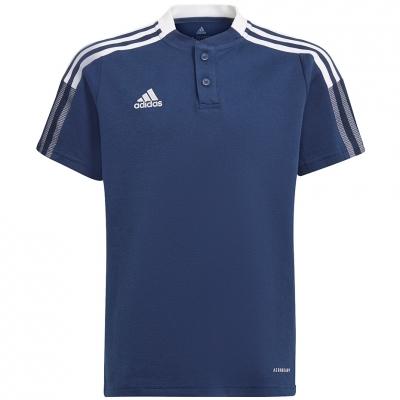 Tricou Tricouri Polo For Adidas Tiro 21 bleumarin GK9673 pentru Copii