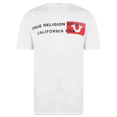 Tricou True Religion California alb