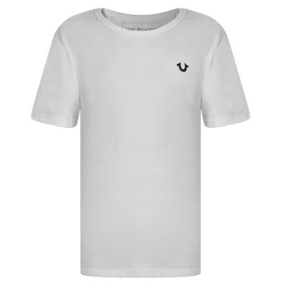 Tricou TRUE RELIGION Crafted pentru baietei alb
