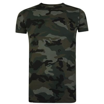Tricou True Religion Camouflage cu maneca scurta d oliv