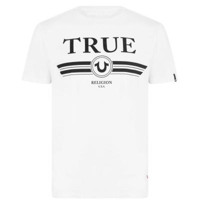 Tricou TRUE RELIGION Retro alb
