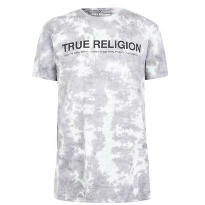 Tricou True Religion Tie Dye gri rck