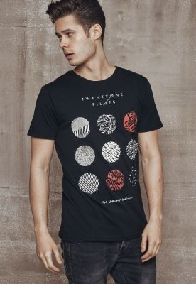 Tricou Twenty One Pilots Pattern Circles negru Merchcode